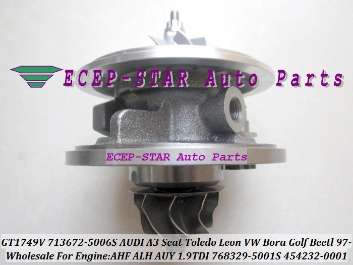 GT1749V 713672-5006S 768329-5001S 454232-0001 Turbo CHRA Turbocharger for AUDI A3 Seat Toledo Leon VW Bora Golf Beetl 1997- AHF ALH AUY 1.9L TDI (5)