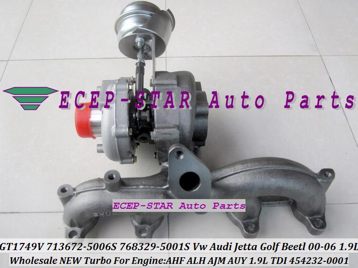 GT1749V 713672 713672-5006S 768329-5001S 454232-0001 For VW AUDI Jetta Golf Beetl 2000-06 1.9TDI AHF ALH AJM AUY 1.9L TDI