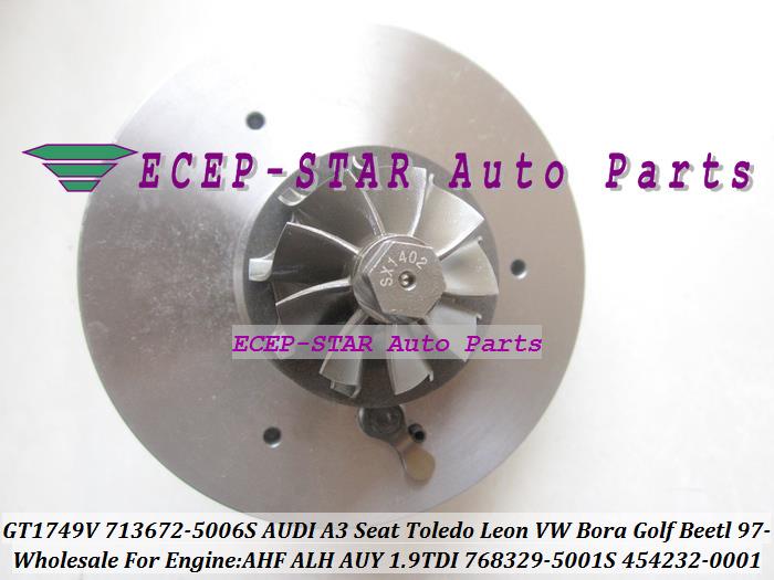 GT1749V 713672-5006S 768329-5001S 454232-0001 Turbo CHRA Turbocharger for AUDI A3 Seat Toledo Leon VW Bora Golf Beetl 1997- AHF ALH AUY 1.9L TDI (3)