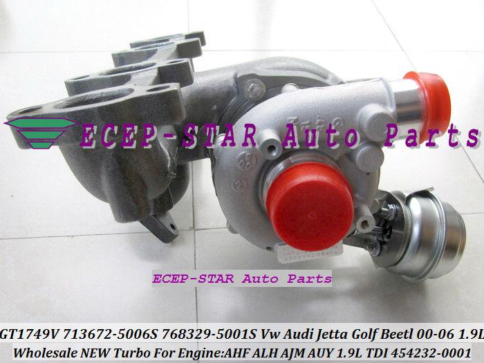 GT1749V 713672 713672-5006S 768329-5001S 454232-0001 For VW AUDI Jetta Golf Beetl 2000-06 1.9TDI AHF ALH AJM AUY 1.9L TDI (7)