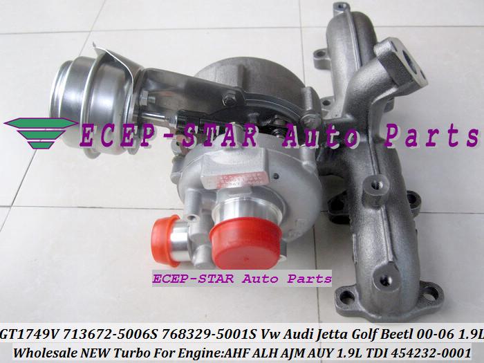 GT1749V 713672 713672-5006S 768329-5001S 454232-0001 For VW AUDI Jetta Golf Beetl 2000-06 1.9TDI AHF ALH AJM AUY 1.9L TDI (3)