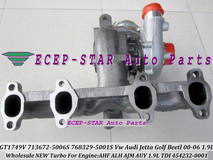 GT1749V 713672 713672-5006S 768329-5001S 454232-0001 For VW AUDI Jetta Golf Beetl 2000-06 1.9TDI AHF ALH AJM AUY 1.9L TDI (5)