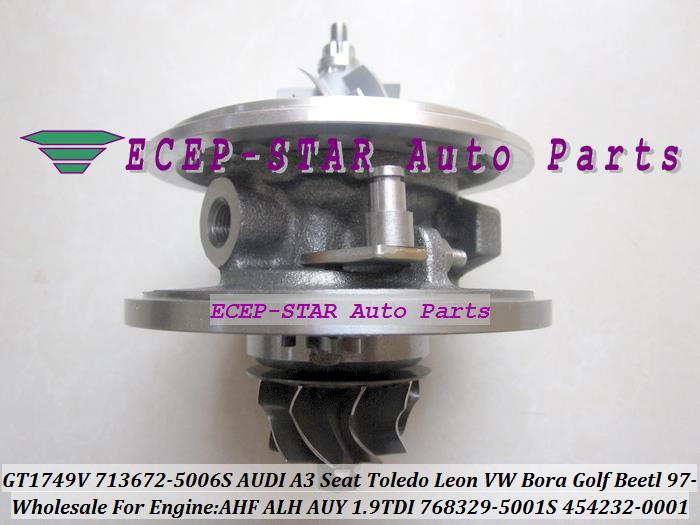 GT1749V 713672-5006S 768329-5001S 454232-0001 Turbo CHRA Turbocharger for AUDI A3 Seat Toledo Leon VW Bora Golf Beetl 1997- AHF ALH AUY 1.9L TDI (6)