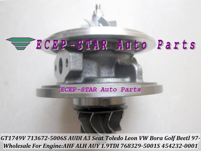 GT1749V 713672-5006S 768329-5001S 454232-0001 Turbo CHRA Turbocharger for AUDI A3 Seat Toledo Leon VW Bora Golf Beetl 1997- AHF ALH AUY 1.9L TDI (4)