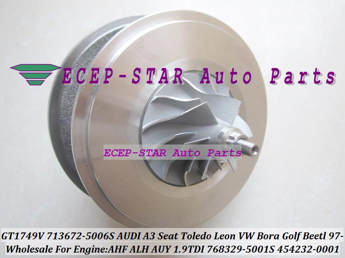 GT1749V 713672-5006S 768329-5001S 454232-0001 Turbo CHRA Turbocharger for AUDI A3 Seat Toledo Leon VW Bora Golf Beetl 1997- AHF ALH AUY 1.9L TDI (2)