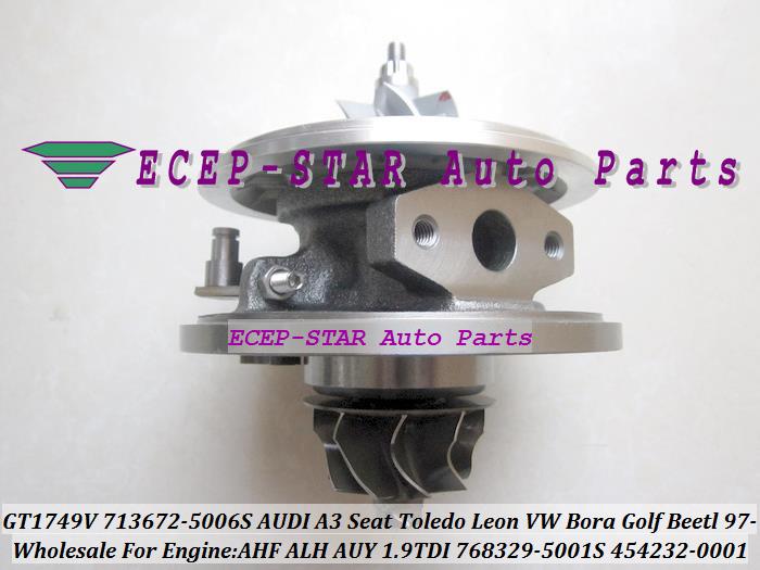 GT1749V 713672-5006S 768329-5001S 454232-0001 Turbo CHRA Turbocharger for AUDI A3 Seat Toledo Leon VW Bora Golf Beetl 1997- AHF ALH AUY 1.9L TDI (1)