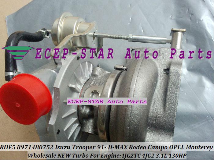 RHF5 8971480752 Turbo Turbocharger ISUZU Trooper 1991- D-MAX Rodeo Campo OPEL Monterey 4JG2TC 4JG2 3.1L (4)
