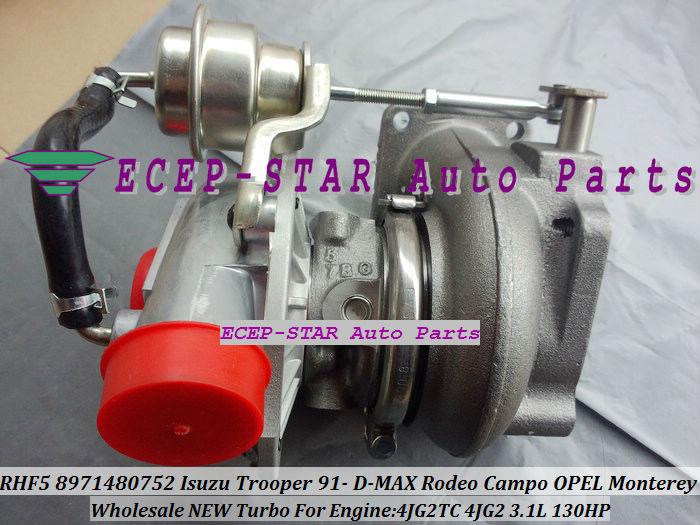 RHF5 8971480752 Turbo Turbocharger ISUZU Trooper 1991- D-MAX Rodeo Campo OPEL Monterey 4JG2TC 4JG2 3.1L (6)