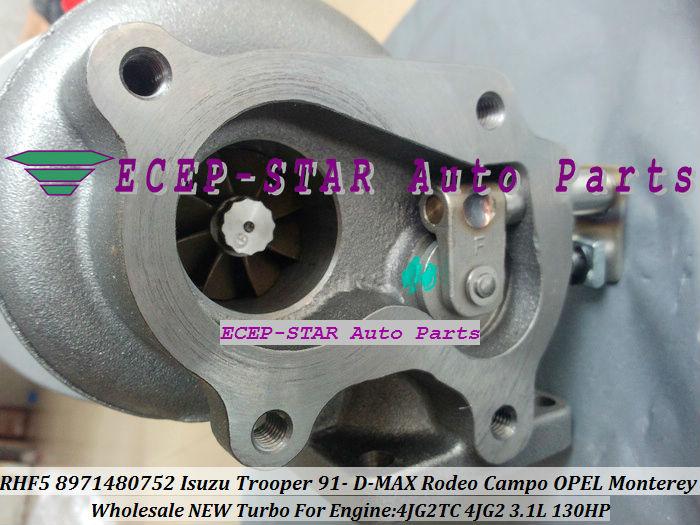 RHF5 8971480752 Turbo Turbocharger ISUZU Trooper 1991- D-MAX Rodeo Campo OPEL Monterey 4JG2TC 4JG2 3.1L (2)