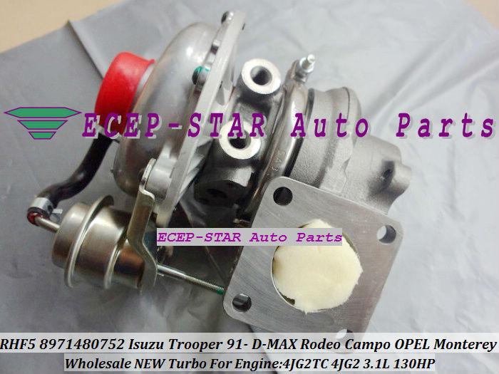 RHF5 8971480752 Turbo Turbocharger ISUZU Trooper 1991- D-MAX Rodeo Campo OPEL Monterey 4JG2TC 4JG2 3.1L (1)