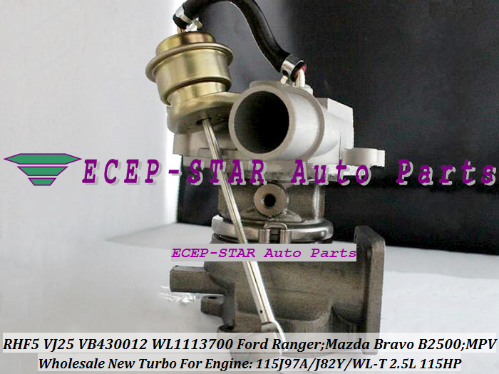 RHF5 VJ25 VB430012 WL1113700 Turbocharger Turbo for FORD Ranger MAZDA Bravo B2500 MPV 115J97A J82Y WL-T 2.5L 109HP 115HP (2)