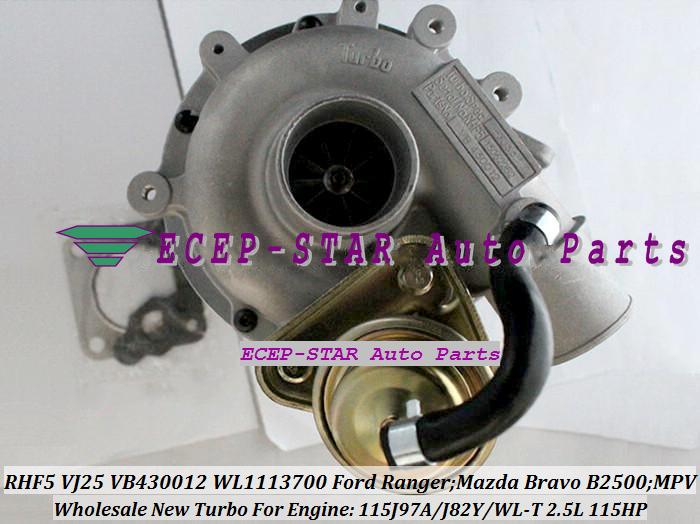 RHF5 VJ25 VB430012 WL1113700 Turbocharger Turbo for FORD Ranger MAZDA Bravo B2500 MPV 115J97A J82Y WL-T 2.5L 109HP 115HP