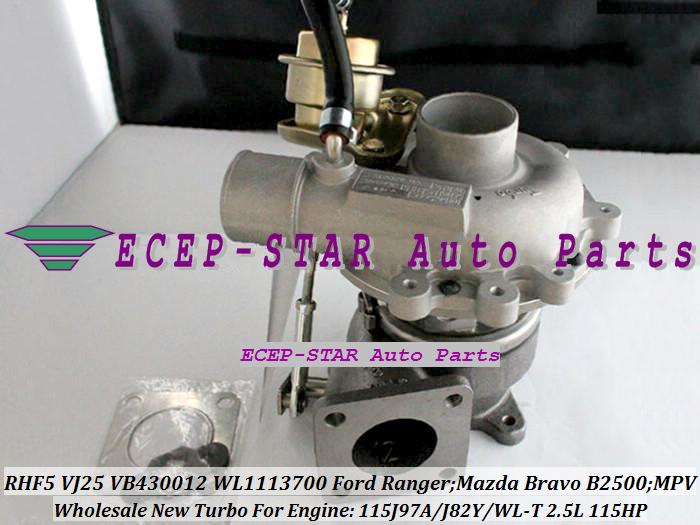 RHF5 VJ25 VB430012 WL1113700 Turbocharger Turbo for FORD Ranger MAZDA Bravo B2500 MPV 115J97A J82Y WL-T 2.5L 109HP 115HP (3)