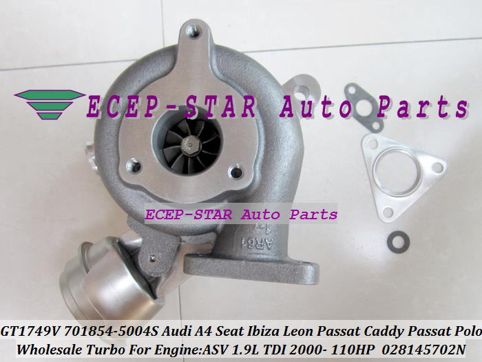 GT1749V 701854 701854-5004S 028145702N Turbo Turbocharger For AUDI A4 A6 Seat Cordoba Ibiza Leon Vw PASSAT Caddy Passat Polo 2000- ASV 1.9L TDI 110HP (6)
