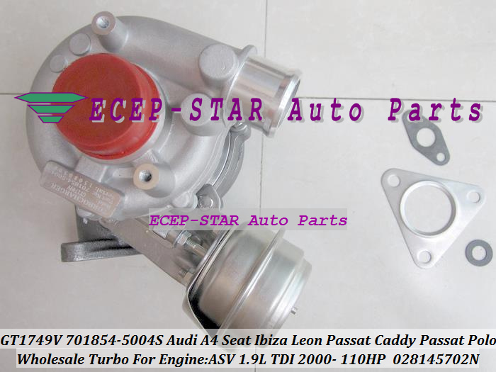 GT1749V 701854 701854-5004S 028145702N Turbo Turbocharger For AUDI A4 A6 Seat Cordoba Ibiza Leon Vw PASSAT Caddy Passat Polo 2000- ASV 1.9L TDI 110HP (1)