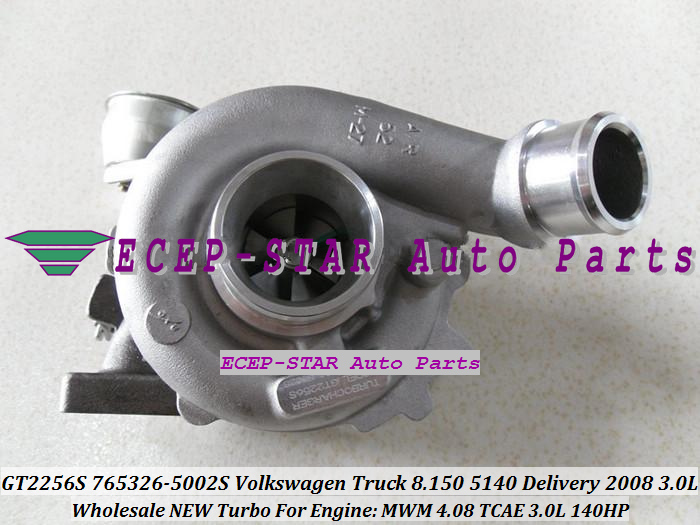 GT2256S 765326-5002S 765326 Turbocharger For VW Volkswagen Truck 8.150 5140 Delivery 2008 Engine MWM 4.08 TCAE 3.0L 140HP with Gaskets