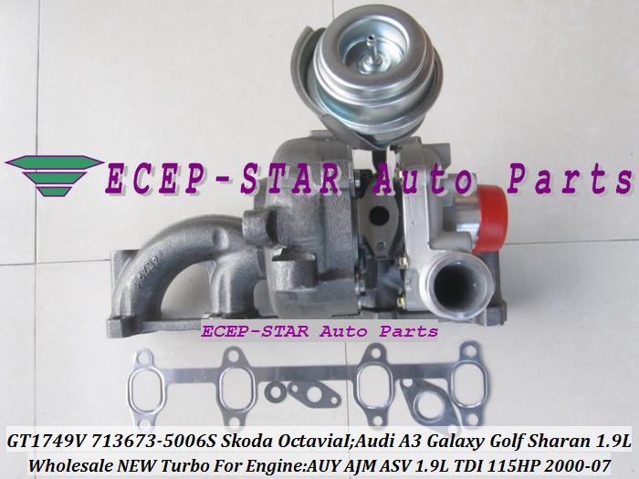 GT1749V 713673 713673-5006S 038253019D Turbo Turbocharger Fit for Skoda Octavia I 2000-2007;Audi A3 Galaxy Golf Sharan 1.9L TDI AUY AJM ASV 115HP (7)