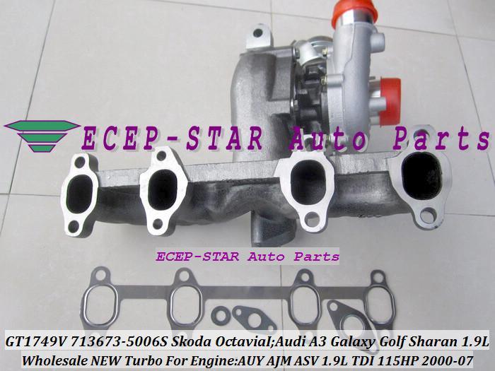 GT1749V 713673 713673-5006S 038253019D Turbo Turbocharger Fit for Skoda Octavia I 2000-2007;Audi A3 Galaxy Golf Sharan 1.9L TDI AUY AJM ASV 115HP (3)