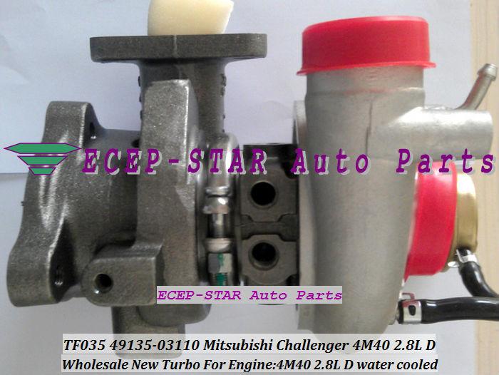 TF035 49135-03110 ME202012 MITSUBISHI CHALLANGER 4M40 2.8L D turbocharger turbo turbine (3)