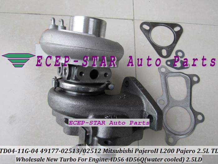 TD04-11G-04 49177-02512 49177-02513 Turbo Turbine Turbocharger For Mitsubishi Pajero L200 Pajero 2.5 TD 4D56