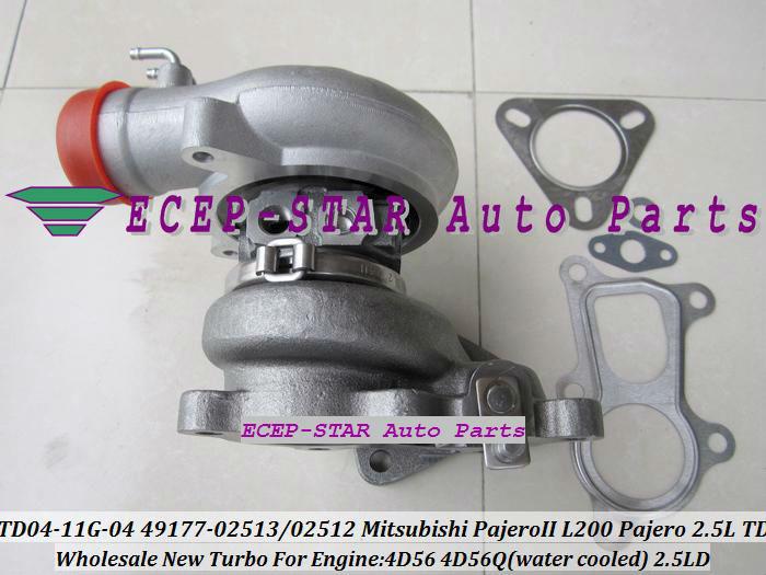 TD04-11G-04 49177-02512 49177-02513 Turbo Turbine Turbocharger For Mitsubishi Pajero L200 Pajero 2.5 TD 4D56 (1)