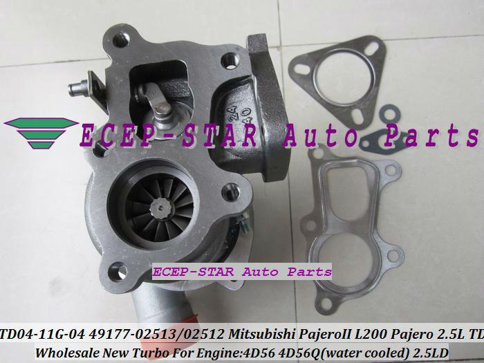 TD04-11G-04 49177-02512 49177-02513 Turbo Turbine Turbocharger For Mitsubishi Pajero L200 Pajero 2.5 TD 4D56 (4)