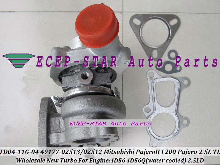 TD04-11G-04 49177-02512 49177-02513 Turbo Turbine Turbocharger For Mitsubishi Pajero L200 Pajero 2.5 TD 4D56 (2)