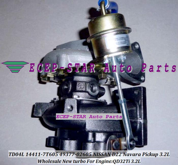 turbocharger TD04L 14411-7T605 49377-02605 NISSAN D22 Navara Pickup 3.2L QD32Ti 3.2L (1)