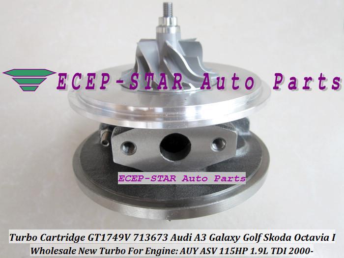 Turbo CHRA Cartridge Turbocharger GT1749V 713673-5006S 713673 For Audi A3 Galaxy Golf Skoda Octavia I 2000- 1.9L TDI AUY ASV 115HP (3)