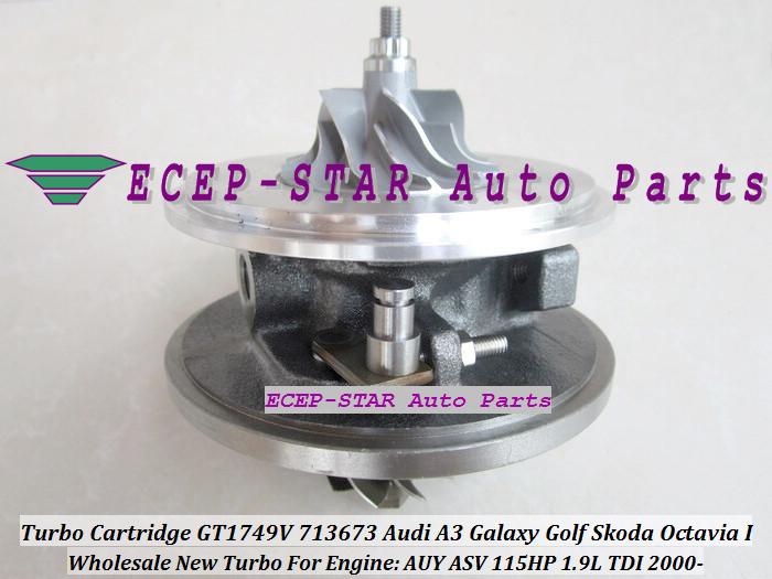 Turbo CHRA Cartridge Turbocharger GT1749V 713673-5006S 713673 For Audi A3 Galaxy Golf Skoda Octavia I 2000- 1.9L TDI AUY ASV 115HP (1)