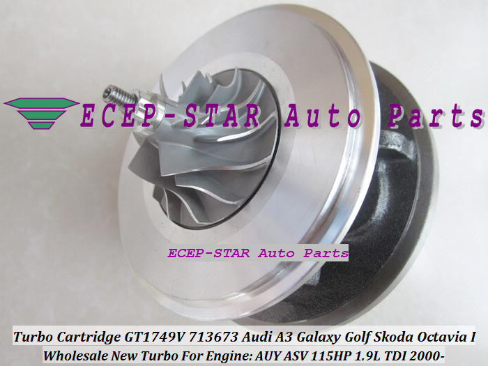 Turbo CHRA Cartridge Turbocharger GT1749V 713673-5006S 713673 For Audi A3 Galaxy Golf Skoda Octavia I 2000- 1.9L TDI AUY ASV 115HP (5)