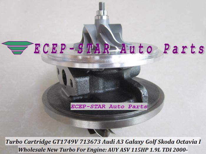 Turbo CHRA Cartridge Turbocharger GT1749V 713673-5006S 713673 For Audi A3 Galaxy Golf Skoda Octavia I 2000- 1.9L TDI AUY ASV 115HP (4)