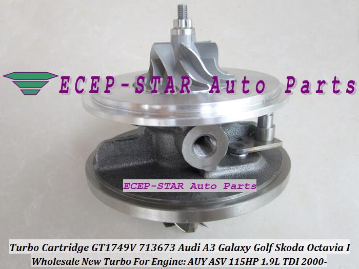 Turbo CHRA Cartridge Turbocharger GT1749V 713673-5006S 713673 For Audi A3 Galaxy Golf Skoda Octavia I 2000- 1.9L TDI AUY ASV 115HP