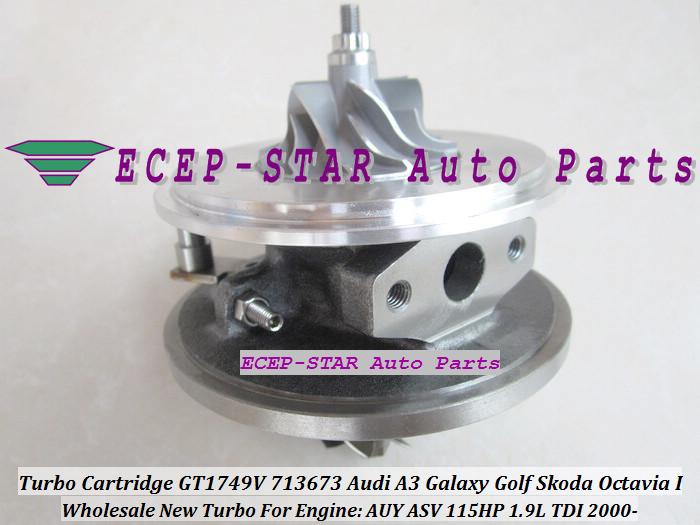 Turbo CHRA Cartridge Turbocharger GT1749V 713673-5006S 713673 For Audi A3 Galaxy Golf Skoda Octavia I 2000- 1.9L TDI AUY ASV 115HP (2)