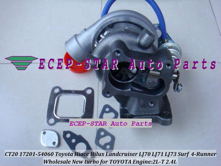 CT20 17201-54060 Toyota Hiace Hilux Landcruiser LJ70 LJ71 LJ73 Surf 4-Runner 2.4L 2L-T Turbocharger (2)