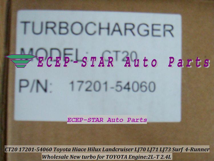 CT20 17201-54060 Toyota Hiace Hilux Landcruiser LJ70 LJ71 LJ73 Surf 4-Runner 2.4L 2L-T Turbocharger (7)