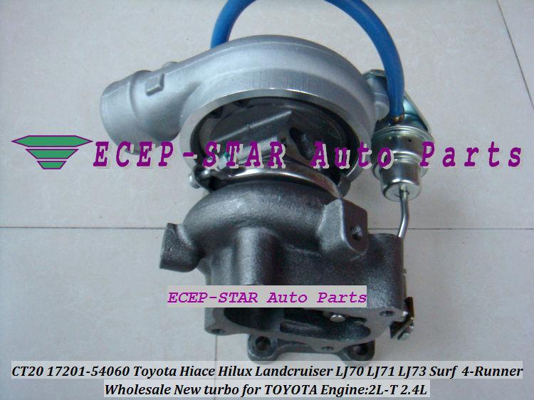 CT20 17201-54060 Toyota Hiace Hilux Landcruiser LJ70 LJ71 LJ73 Surf 4-Runner 2.4L 2L-T Turbocharger