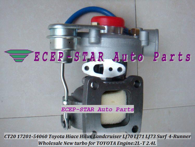 CT20 17201-54060 Toyota Hiace Hilux Landcruiser LJ70 LJ71 LJ73 Surf 4-Runner 2.4L 2L-T Turbocharger (5)