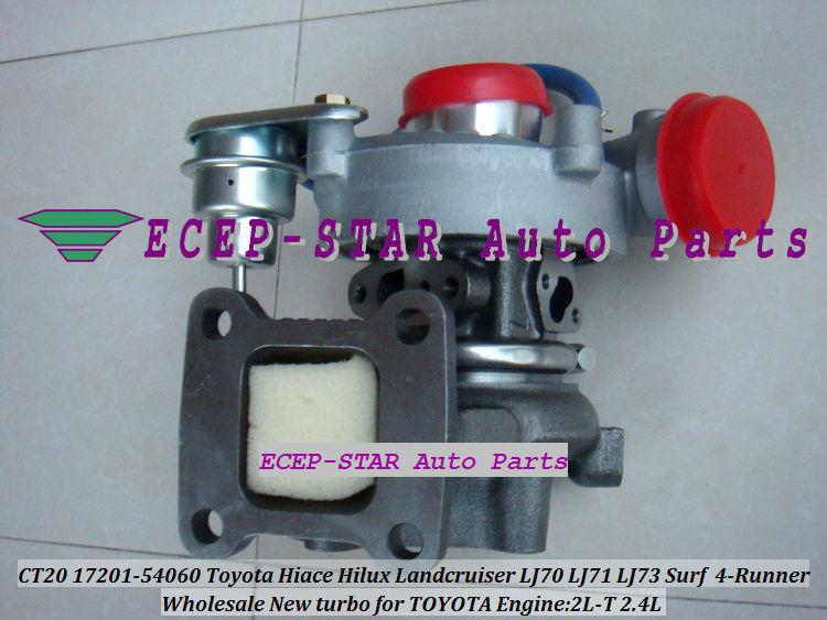 CT20 17201-54060 Toyota Hiace Hilux Landcruiser LJ70 LJ71 LJ73 Surf 4-Runner 2.4L 2L-T Turbocharger (6)