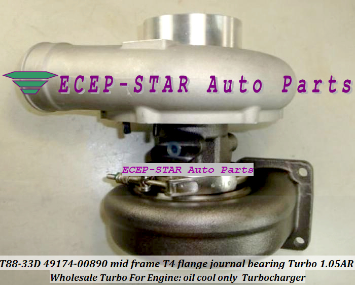 Wholesale T88-33D 49174-00890 mid frame T4 flange journal bearing Turbo Turbocharger 1.05AR oil cool only (3)