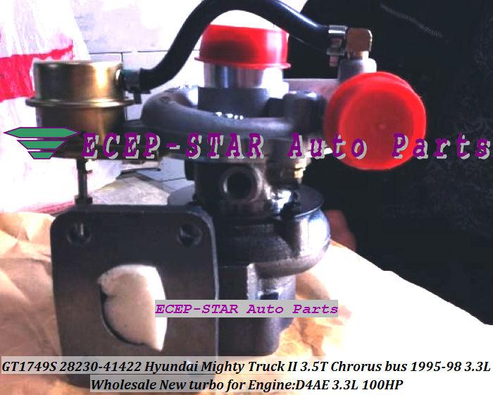 GT1749S GT17 28230-41422 Hyundai Mighty Truck II 3.5T Chrorus bus D4AE 3.3L 1995-98 100HP turbocharger
