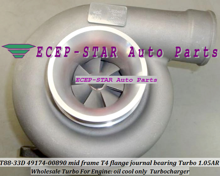 Wholesale T88-33D 49174-00890 mid frame T4 flange journal bearing Turbo Turbocharger 1.05AR oil cool only (1)