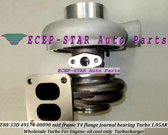 Wholesale T88-33D 49174-00890 mid frame T4 flange journal bearing Turbo Turbocharger 1.05AR oil cool only (2)