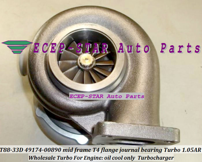 Wholesale T88-33D 49174-00890 mid frame T4 flange journal bearing Turbo Turbocharger 1.05AR oil cool only