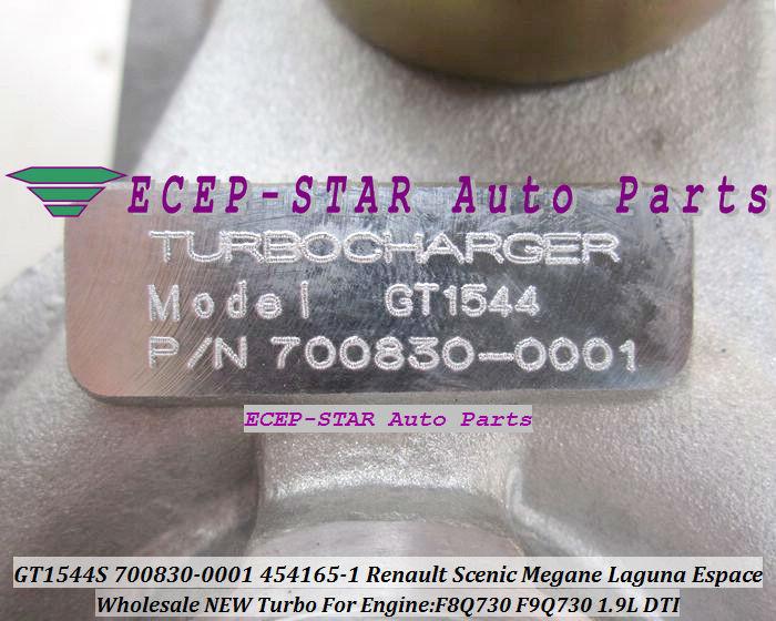 GT1544S 700830-0001 700830-0003 454165-0001 700830 Renault Scenic Megane Laguna Espace 1.9DTI F9Q730 1.9L turbocharger (6)