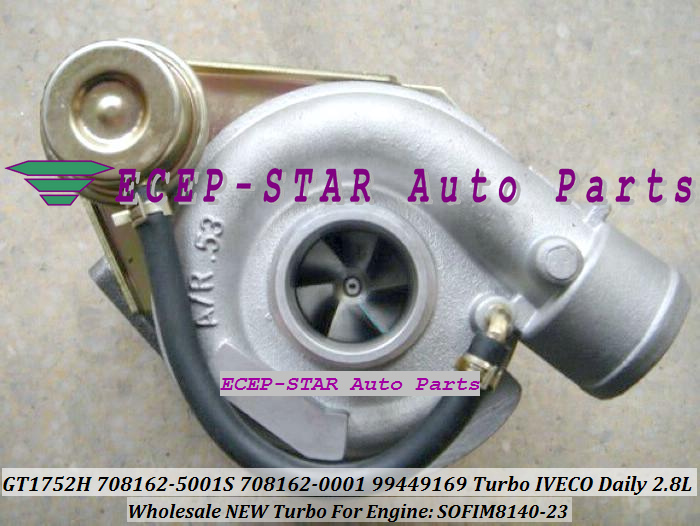 TURBO GT17 GT1752H 708162-5001S 708162-0001 708162 99449169 Turbine Turbocharger For IVECO Daily 2.8L T Engine SOFIM8140-23