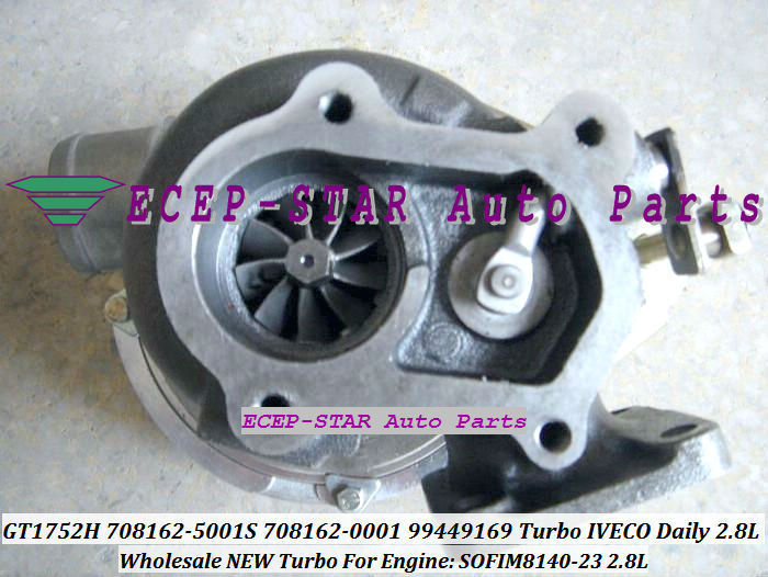 TURBO GT17 GT1752H 708162-5001S 708162-0001 708162 99449169 Turbine Turbocharger For IVECO Daily 2.8L T Engine SOFIM8140-23 (2)
