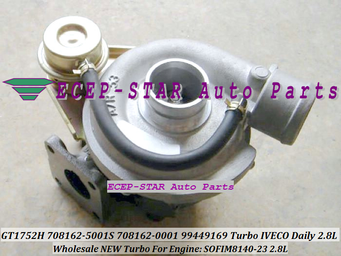 TURBO GT17 GT1752H 708162-5001S 708162-0001 708162 99449169 Turbine Turbocharger For IVECO Daily 2.8L T Engine SOFIM8140-23 (4)