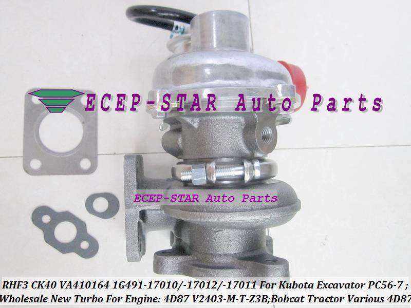 TURBO RHF3 CK40 VA410164 1G491-17011 1G491-17012 1G491-17010 Turbocharger For Kubota Excavator PC56-7 Bobcat Tractor 4D87 V2403-M-T-Z3B (4)