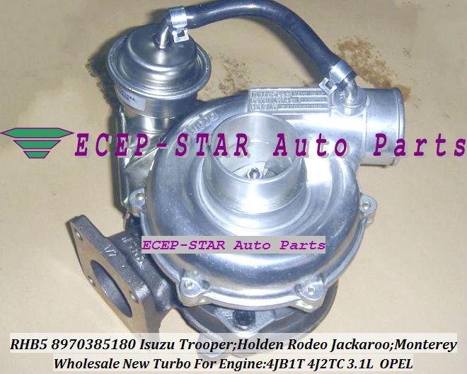 RHB5 8970385180 8970385181 turbo turbocharger Fit For ISUZU HOLDEN Trooper 4JB1T 3.1L (5)